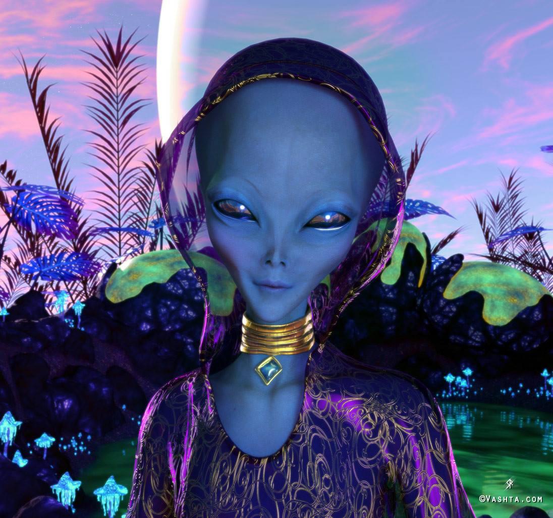Blue Arcturian Priestess